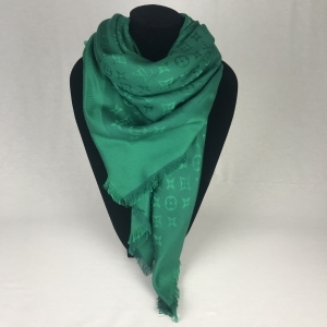 Louis Vuitton Monogram Shawl Emerald Green