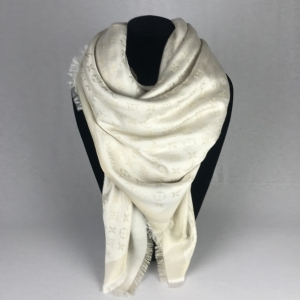 Louis Vuitton Monogram Shine Shawl White