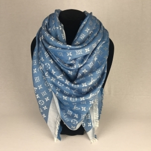 Louis Vuitton Monogram Denim Shawl Bleuet