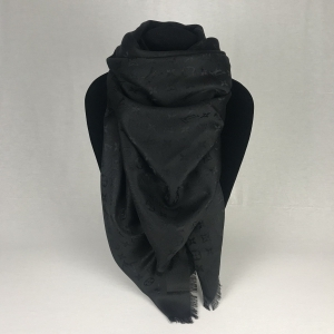 Louis Vuitton Monogram Shawl Black