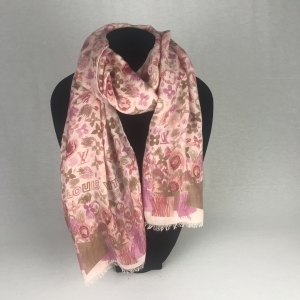 Louis Vuitton Monogram Shawl Rose Beige