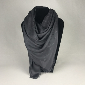 Louis Vuitton Monogram Shawl Charcoal Grey