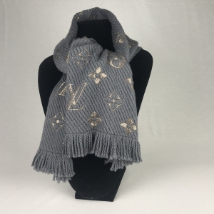 Louis Vuitton Logomania Shine Grey Scarf Limited Edition