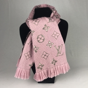 Louis Vuitton Logomania Shine Rose Ballerine Scarf