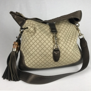 Gucci Jacky Canvas Beige