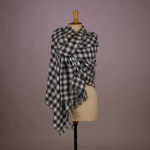 Sjaal Zwart-Wit Schapenwol