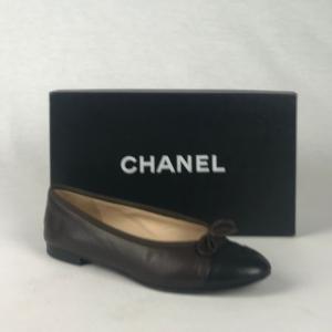 Chanel Ballerina Bruin Zwart