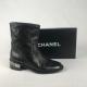 Chanel Enkellaars Zwart 37,5