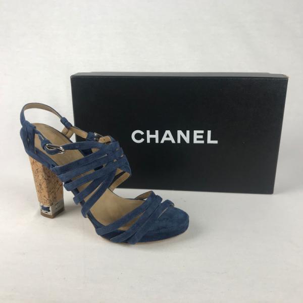 Chanel Pump Sandaal Blauw