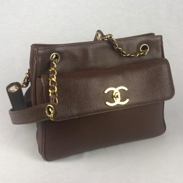 Chanel Vintage Tas Bruin
