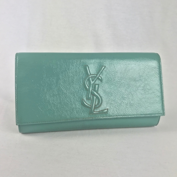 Yves Saint Laurent Portemonaie Mintgroen